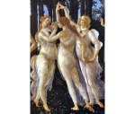 Botticelli - drie Gratiën, schilderij 'La Primavera'