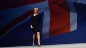Home Secretary Theresa May arrives to deliver her speech at Manchester Central during the Conservative Party conference. PRESS ASSOCIATION Photo. Picture date: Tuesday October 6, 2015. See PA story TORY Main. Photo credit should read: Stefan Rousseau/PA Wire